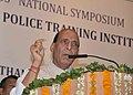 The Union Home Minister, Shri Rajnath Singh addressing the Valedictory Function of the 33rd National Symposium of Police Training Heads, at Police Training Academy, in Jaipur, Rajasthan on September 03, 2014.jpg