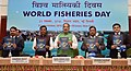 The Union Minister for Agriculture and Farmers Welfare, Shri Radha Mohan Singh releasing the publication, on the occasion of the World Fisheries Day 2016, in New Delhi (2).jpg