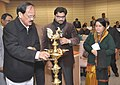 The Union Minister for Urban Development, Housing and Urban Poverty Alleviation and Parliamentary Affairs, Shri M. Venkaiah Naidu lighting the lamp to inaugurate the Consultative Workshop on Urban Governance-UD.jpg