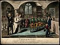 The confirmation ceremony for a group of boys; implying the Wellcome V0011077.jpg