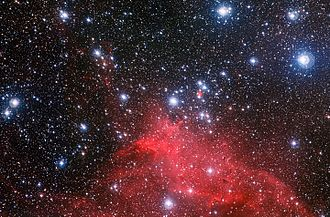 Open cluster - Image: The star cluster NGC 3572 and its dramatic surroundings