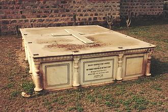 Sir Thomas Metcalfe, 4th Baronet - The tomb of Sir Thomas Metcalfe at St. James' Church near Kashmiri Gate, Delhi