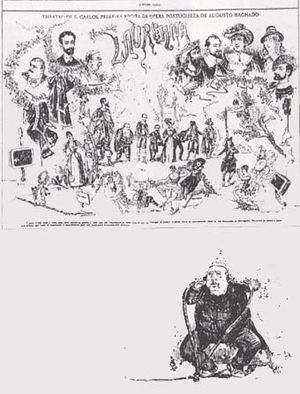 Théâtrophone - Image: Theatrophone Rafael Bordalo Pinheiro caricature