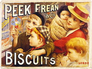 Peek Freans - Advertisement by Thomas Benjamin Kennington (1891)
