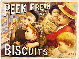 Peek Freans former biscuit company based in London, now a global brand