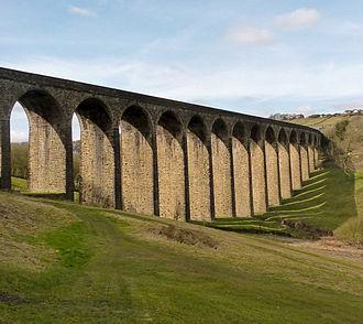 Thornton, West Yorkshire - Thornton Viaduct, as seen from the 7th green of Headley Golf Club