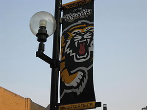 Ti-Cats Street Banner, King William Street, Ha...