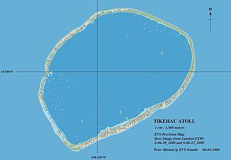 Tikehau - Image: Tikehau Atoll EVS Precision Map (1 150,000) Finished