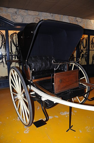 Tilbury (carriage) - A Tilbury carriage in Geraz do Lima Carriage Museum, Portugal