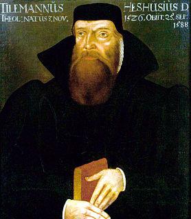Tilemann Heshusius Gnesio-Lutheran theologian