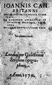 Title page form J. Caius, De Canibus Briatnicis Wellcome M0017949.jpg