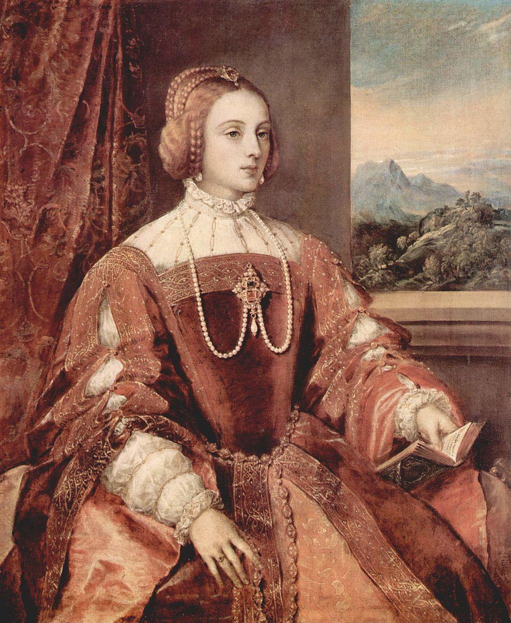 Retrato póstumo de la Emperatriz Isabel. Tiziano. 1548