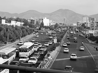 Mohammad Ali Jenah Expressway - The north side of Jenah Expressway. Pictured in 2008, the expressway in named after Muhammad Ali Jinnah.