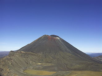 Tolkien tourism - Mount Ngauruhoe served as Mount Doom in the movies.