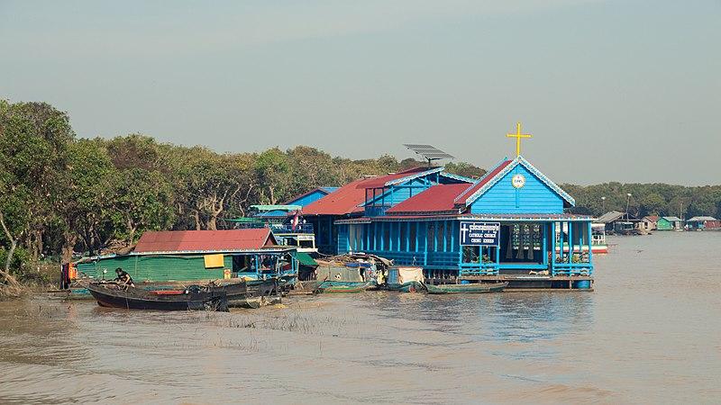 File:Tonle Sap floating church.JPG