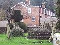 Topiary Cross at All Saints Church, Harnham - geograph.org.uk - 326432.jpg