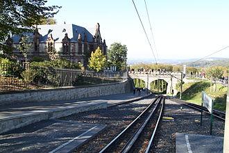 Drachenfels Railway - The intermediate station at Schloss Drachenburg