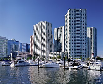 Newport, Jersey City - Image: Towers of america boats 004060 10 17