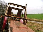 Abandoned tractor. Town's Pasture is the name of the fields north of the road at the head of Tanker Dale.