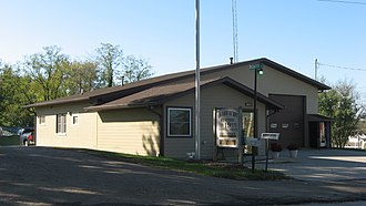 Van Buren Township, Monroe County, Indiana - Township hall, located in Stanford