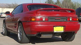 Spoiler (car) - Toyota MR2 with a factory-installed rear spoiler