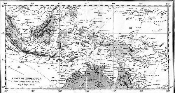 Torres Strait Depth Torres Strait to Java