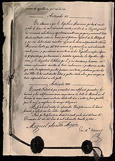 Definitive treaty of peace and friendship between Mexico and Spain International treaty of 1836 that recognizes Mexico as a sovereign nation