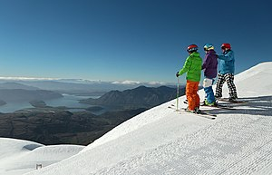 Treble Cone - Treble Cone overlooking Lake Wanaka
