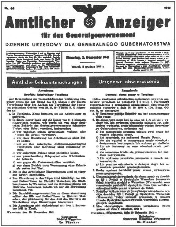 Treblinka I Arbeitslager 2-12-1941