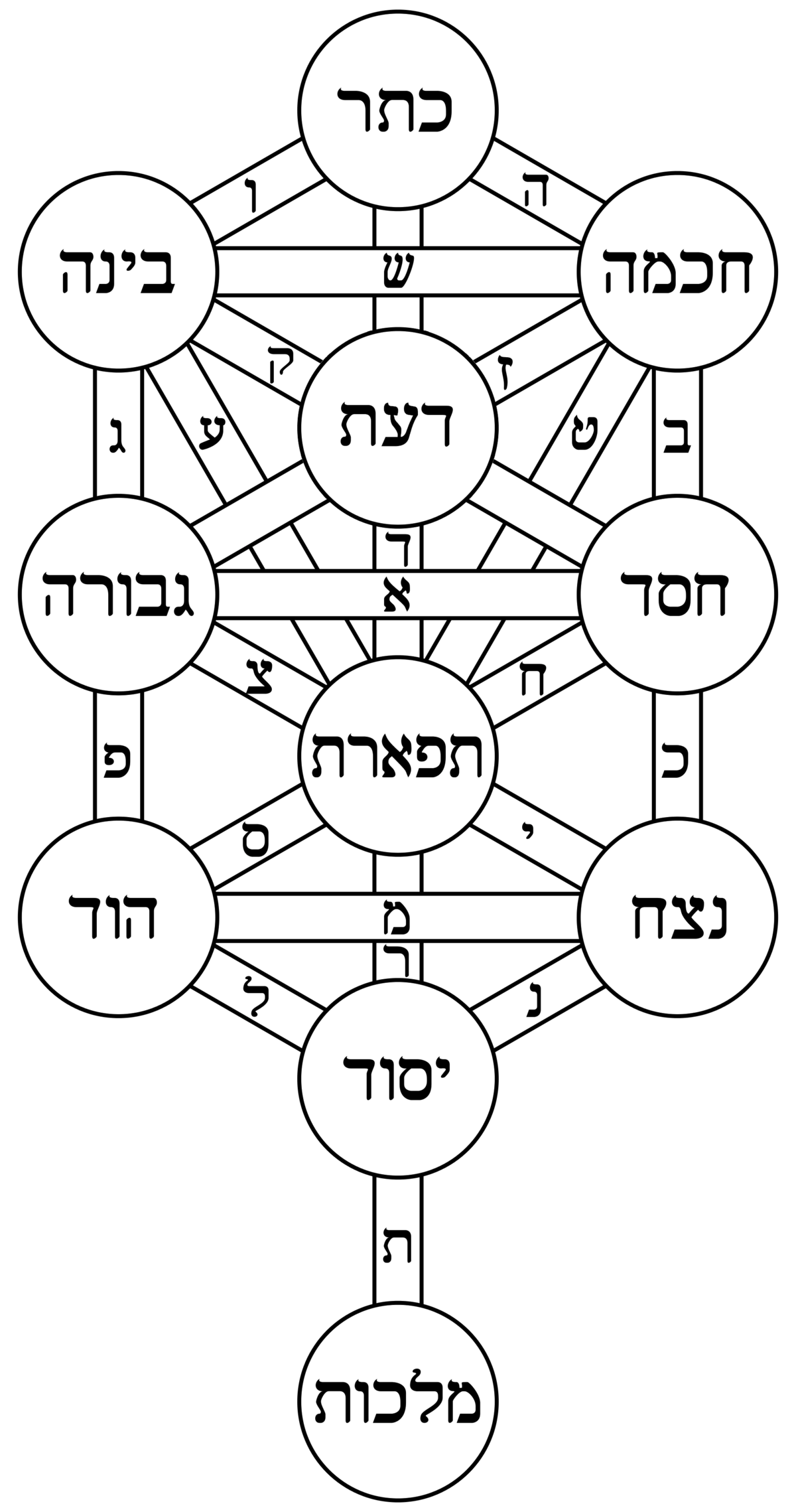 albero della vita  cabala