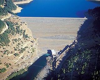 Trinity Dam Dam in Whiskeytown-Shasta-Trinity National Recreation Area, Trinity County, California