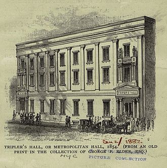 Winter Garden Theatre (1850) - On Mercer Street. It burned to the ground on January 8, 1854 and was replaced by a new theatre the same year.