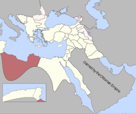 Location of Ottoman Tripolitania