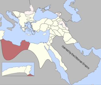 Pasha of Tripoli - Map of Ottoman Tripolitania (red), 1795.