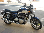 Triumph Bonneville on the street.jpg
