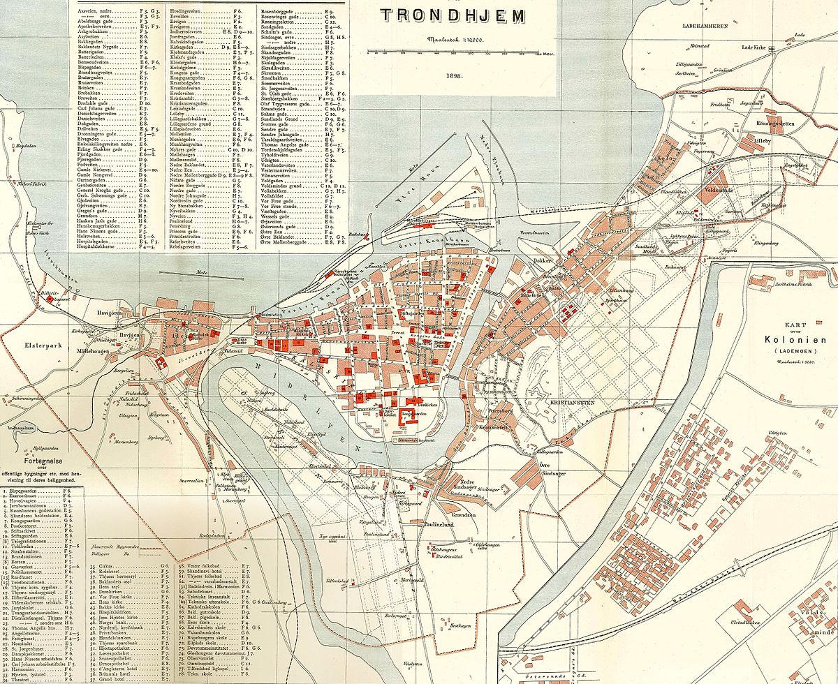 kart over trondheim bydeler Lademoen – Wikipedia kart over trondheim bydeler