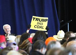 Stream Protection Rule - President-elect Trump's pro-coal mining stances promoted during a Republican campaign rally in Louisiana.