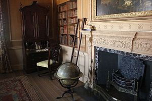 Tryon Palace - the governor's library is decorated with period furniture