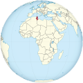 Tunisia on the globe (Africa centered).svg