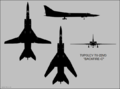 Tupolev Tu-22M3 four-view silhouette.png