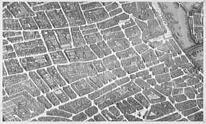 Saint-Jacques Tower - Image: Turgot map Paris KU 10