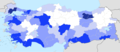 Turkey annual population growth by province 2014.png