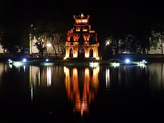 Hoàn Kiếm Lake - Turtle Tower at night