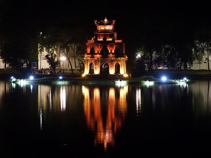 File:TurtleTower HoanKiemLake Hanoi.jpg