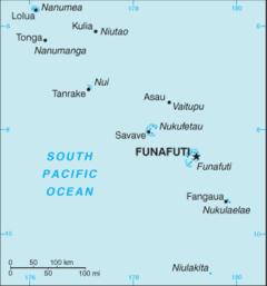 Mapa Tuvalu