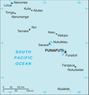 2011 Tuvalu drought - Map of Tuvalu