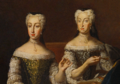 Two Austrian Princesses (cropped and edited from Grand Couvert - Nationalmuseum).png