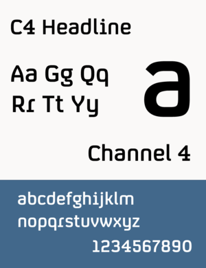 Channel 4 - C4 Headline (typeface used by Channel 4)