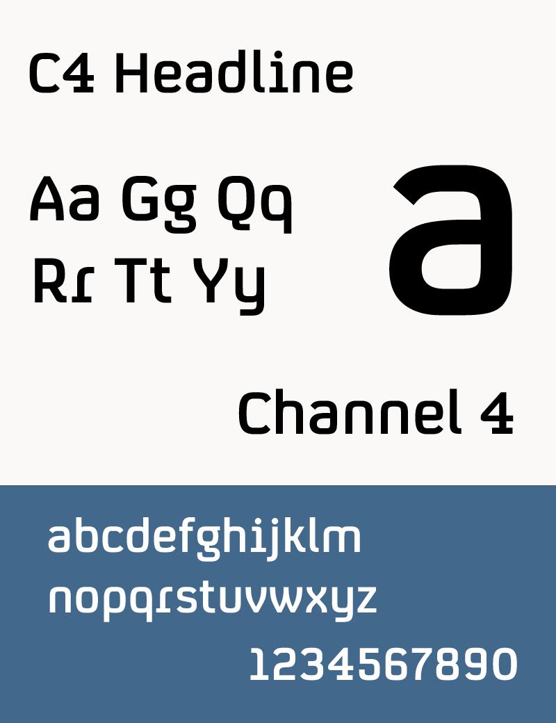 Typeface sample C4 Headline