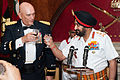 U.S. Army Chief of Staff Gen. Raymond T. Odierno and India Chief of Army Staff Gen. Bikram Singh make a toast at the Indian Army Banquet.jpg